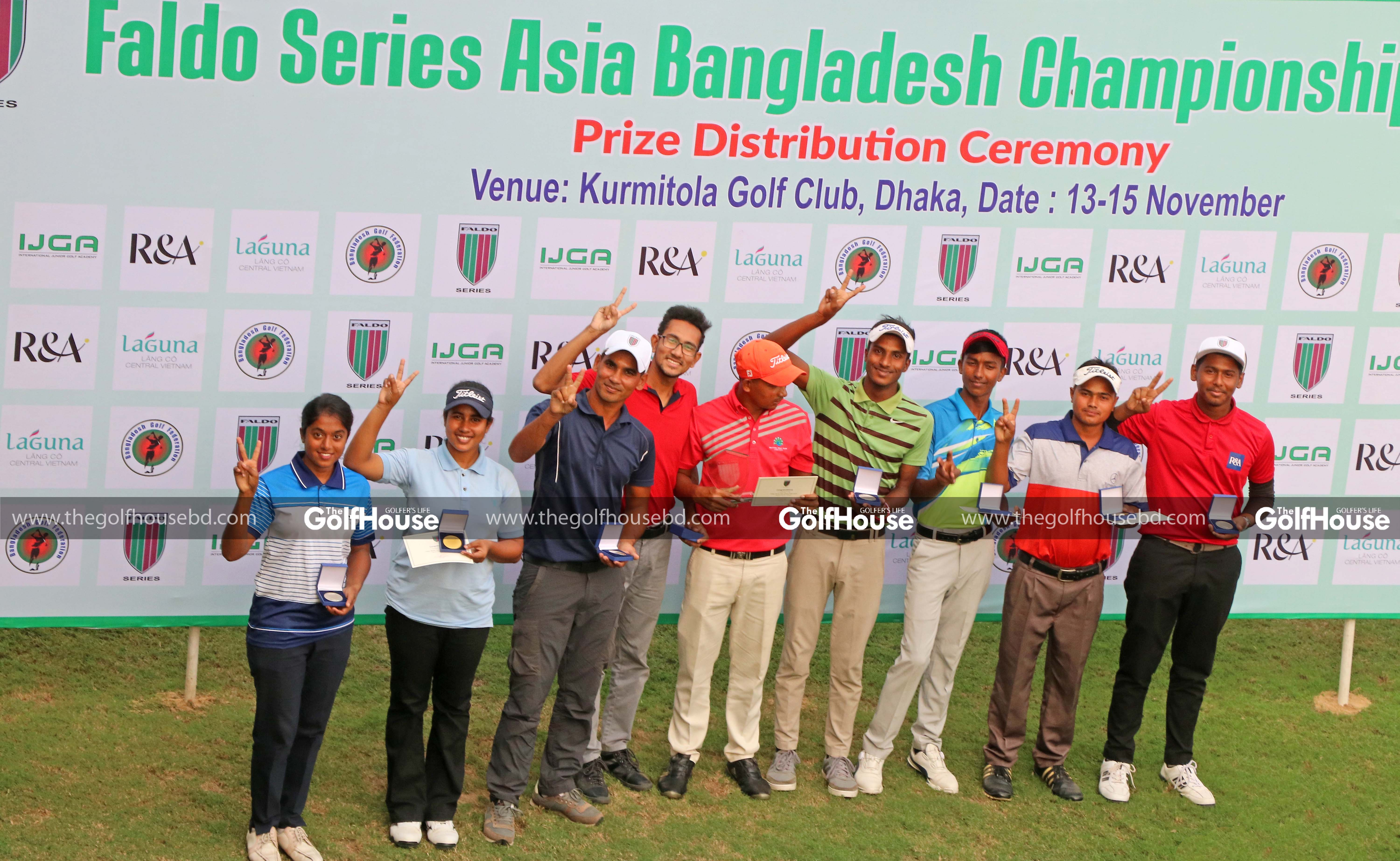 With rounds of 75, 70 and a closing 71 at the Kurmitola Golf Club, Shahab swept to a seven-stroke victory in the ninth leg of the 2018-19 Faldo Series Asia season.